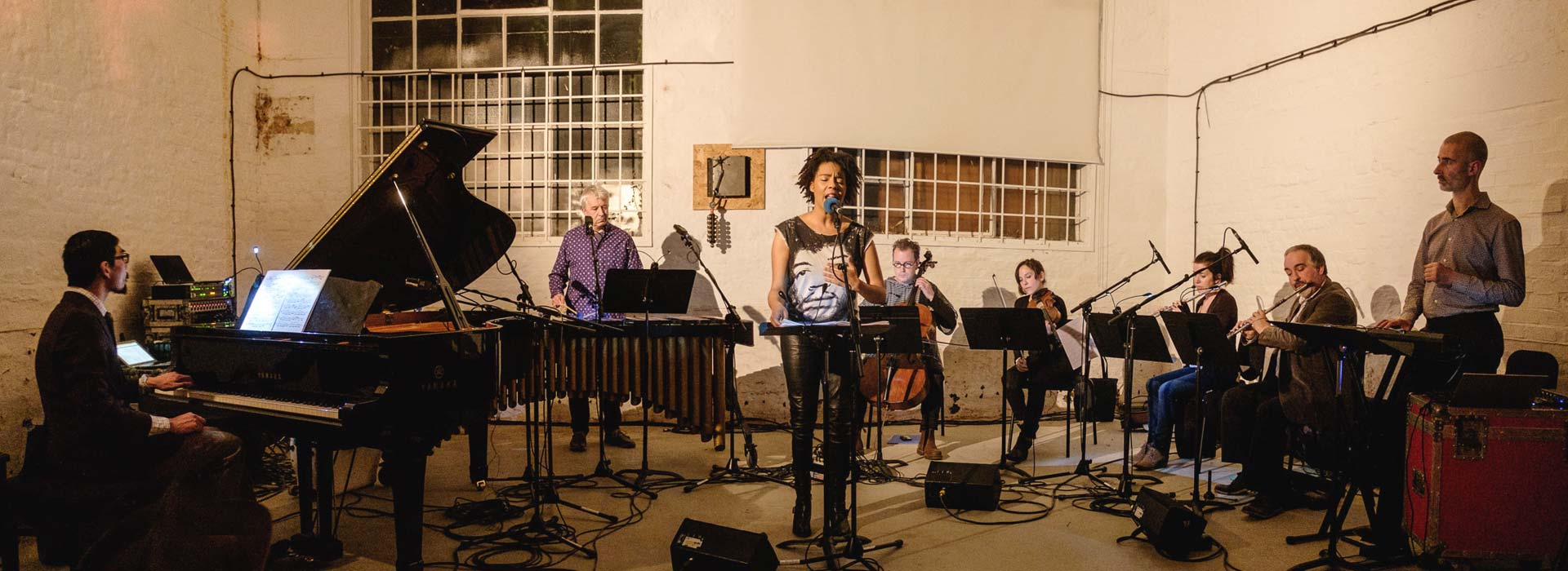Elaine Mitchener rehearsing with Apartment House for In Search of Julius Eastman